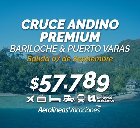 CRUCE ANDINO PREMIUM: BARILOCHE & PUERTO VARAS